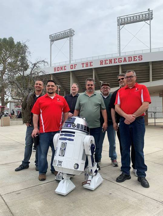 Industrial Automation staff with R2D2