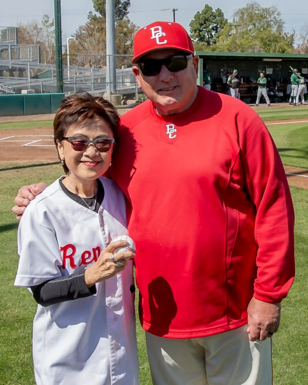 Mayor Goh and BC Baseball coach