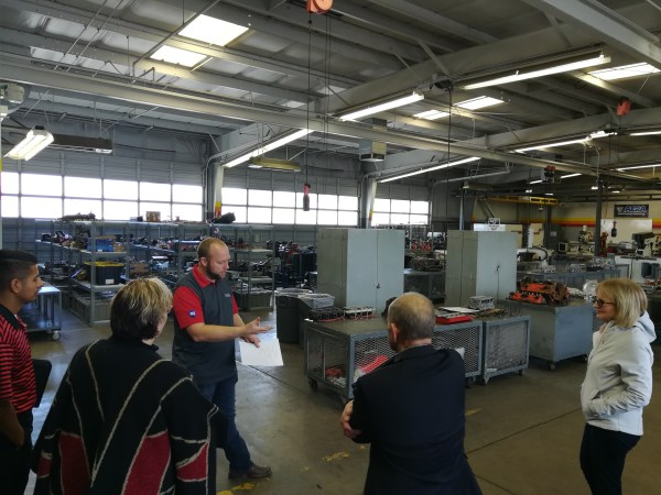 Trustee Connell visits a BC workshop