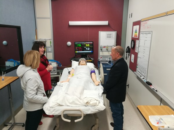 Trustee Connell visits BC Nursing