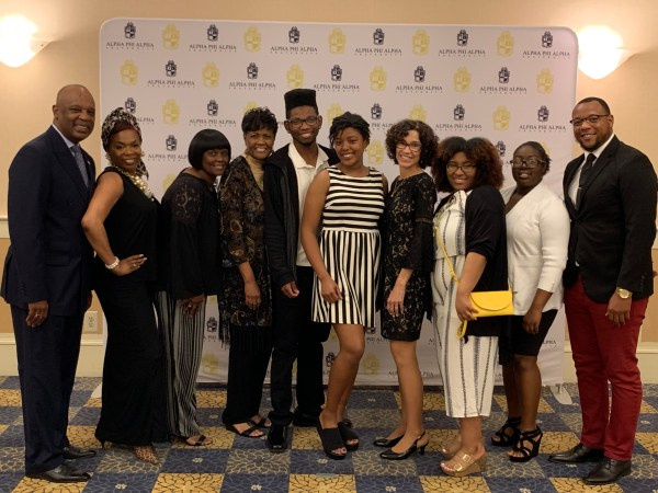 Group of students at Alpha Phi Alpha Fraternity Scholarship Gala