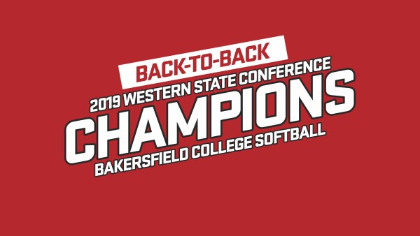 BC Softball 2019 Western State Conference Champions