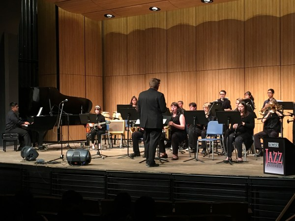 BC Jazz Ensemble performing on stage