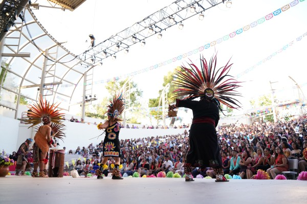 Chicano Latino dancers on stage