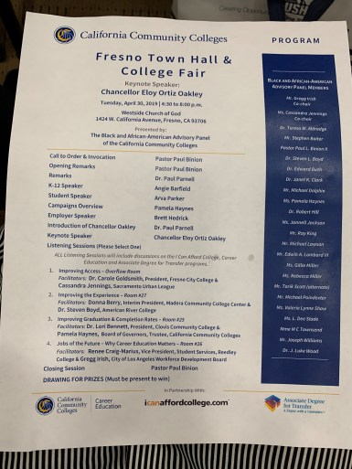 Fresno Town Hall & College Fair Agenda