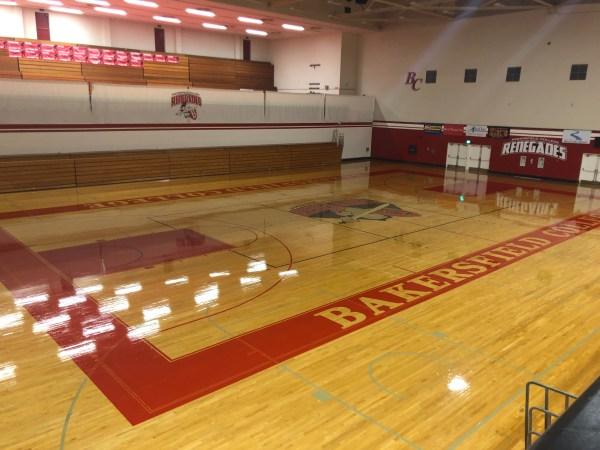 Shiny floor.