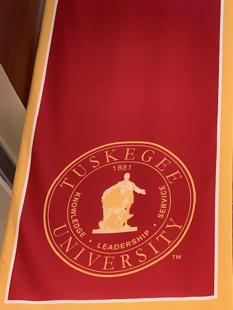 Tuskegee University Knowledge, leadership, service 1881 banner.