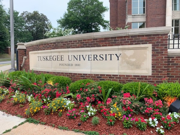 Tuskegee University Founded 1881 sign.