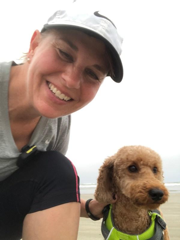 Billie Jo Rice and dog