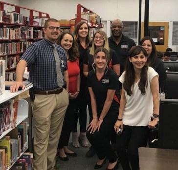 BC team with Justin Derrick at McFarland High School