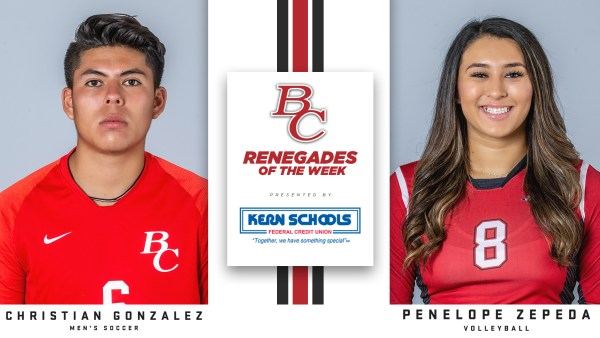 BC Renegades of the Week Presented by Kern Schools Federal Credit Union.