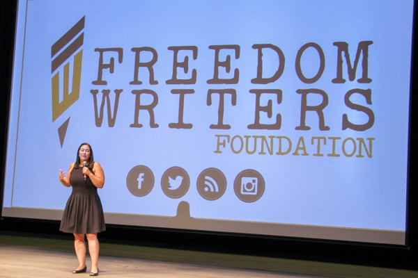 Erin Gruwell on stage