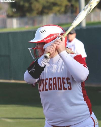 Female batter.