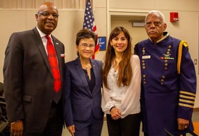 Steve Watkin, Mayor Karen Goh, Sonya Christian and Charles Everly.
