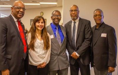 Steve Watkin, Sonya Christian, Rev. Ralph Anthony, Doc Ervin, Dr. Oscar Anthony