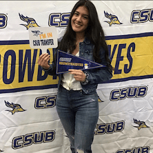 Student with I'm a CSUB Transfer.