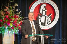 Rick Kreiser receives the Foundation Service Medal.