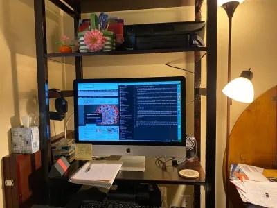 Aricia Leighton's virtual workstation.