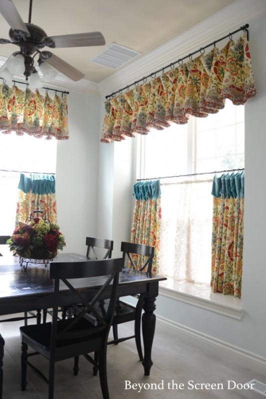 Kitchen Cafe Curtain And Valance Sonya Hamilton Designs