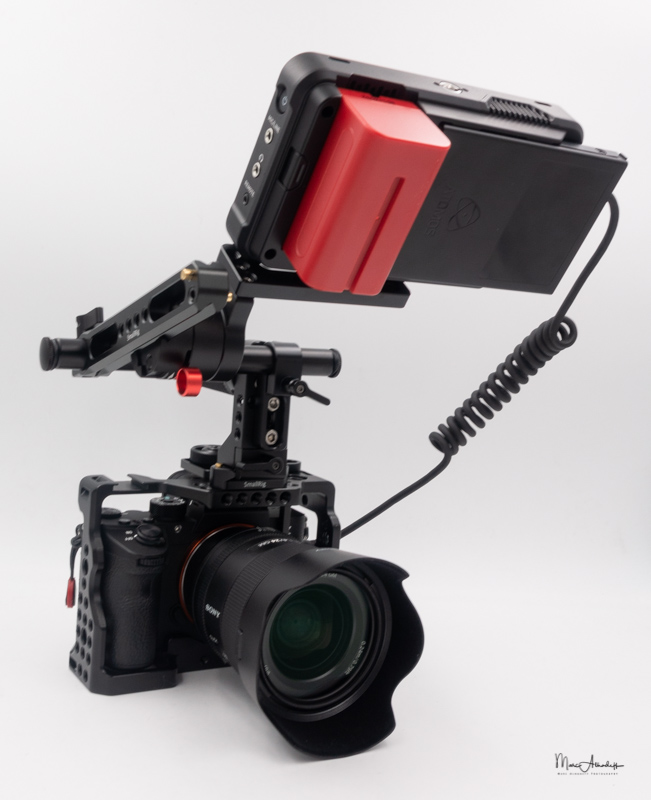 atomos ninja v, smallrig 1903 evf mount with nato rail- 004