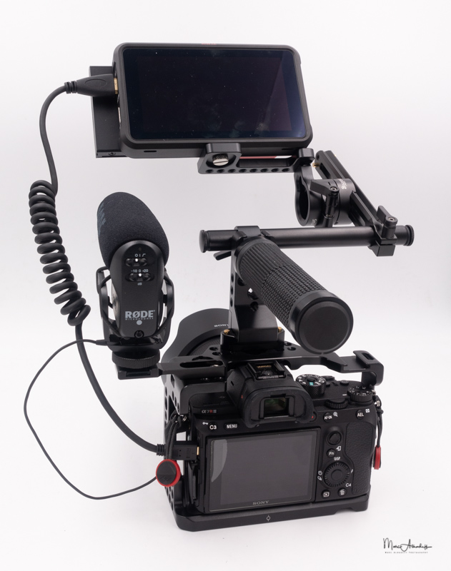 atomos ninja v, smallrig 1903 evf mount with nato rail- 012