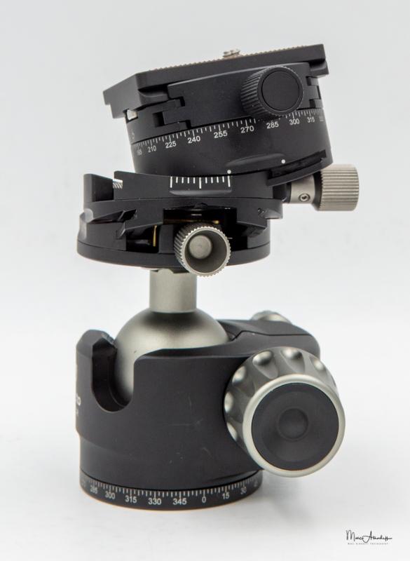 Leofoto Ballhead LH-40GR geared panning clamp-111