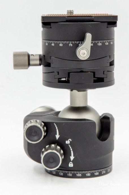 Leofoto Ballhead LH-40GR geared panning clamp, Leofoto LH-40GR-15