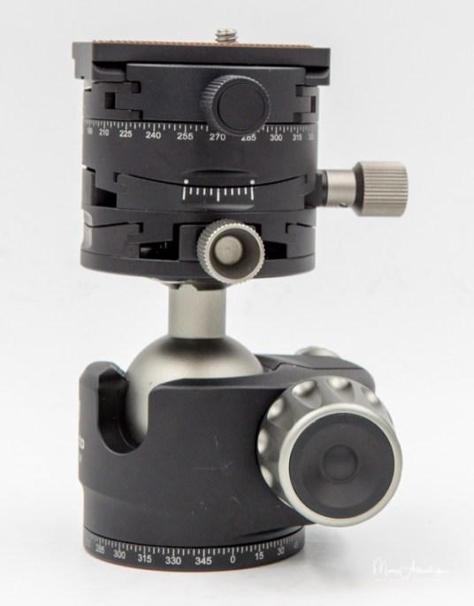 Leofoto Ballhead LH-40GR geared panning clamp, Leofoto LH-40GR-16