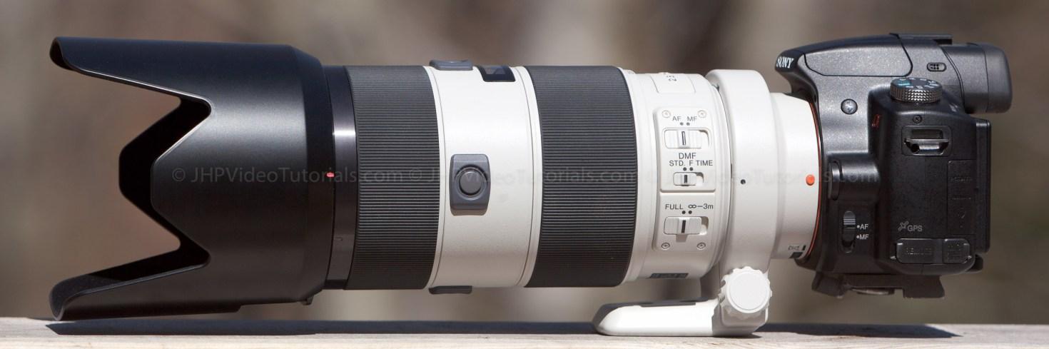 Sony 70-200mm f/2.8 APO G(D) SSM Lens - on the Sony a55