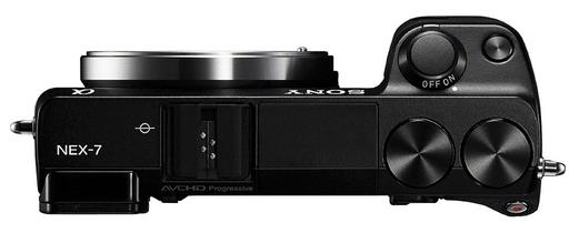Sony Nex-7 - Top