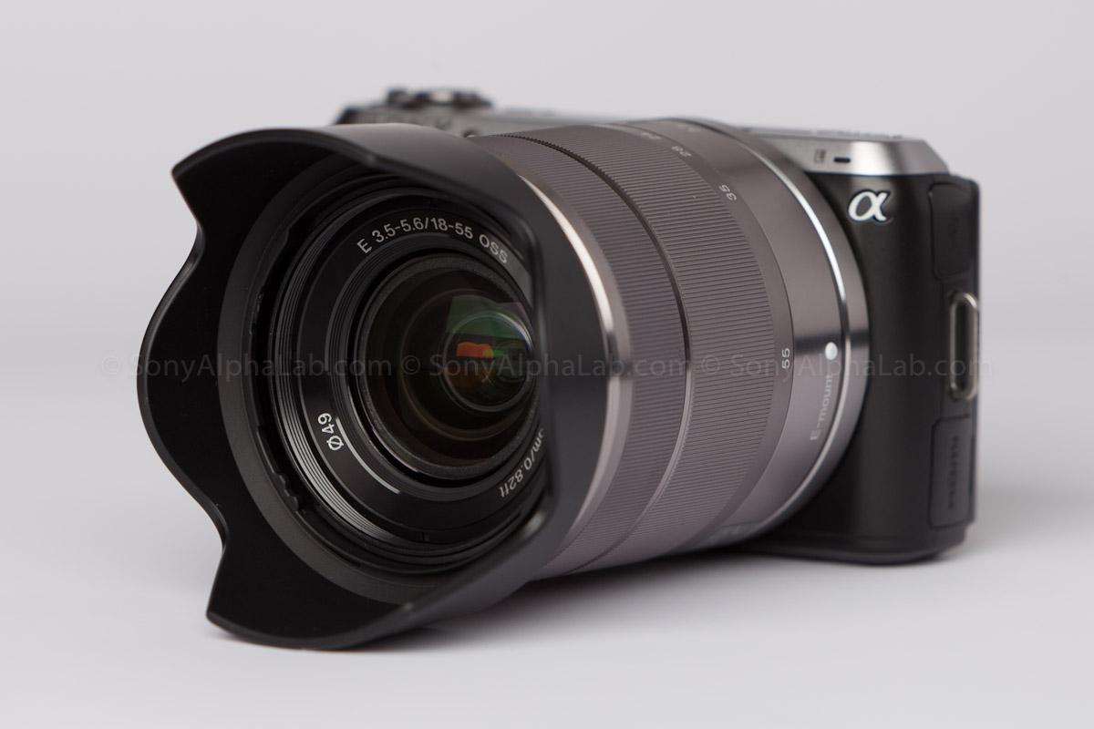 Sony E-Mount 18-55mm f/3.5-5.6 Zoom Lens on the Nex-C3