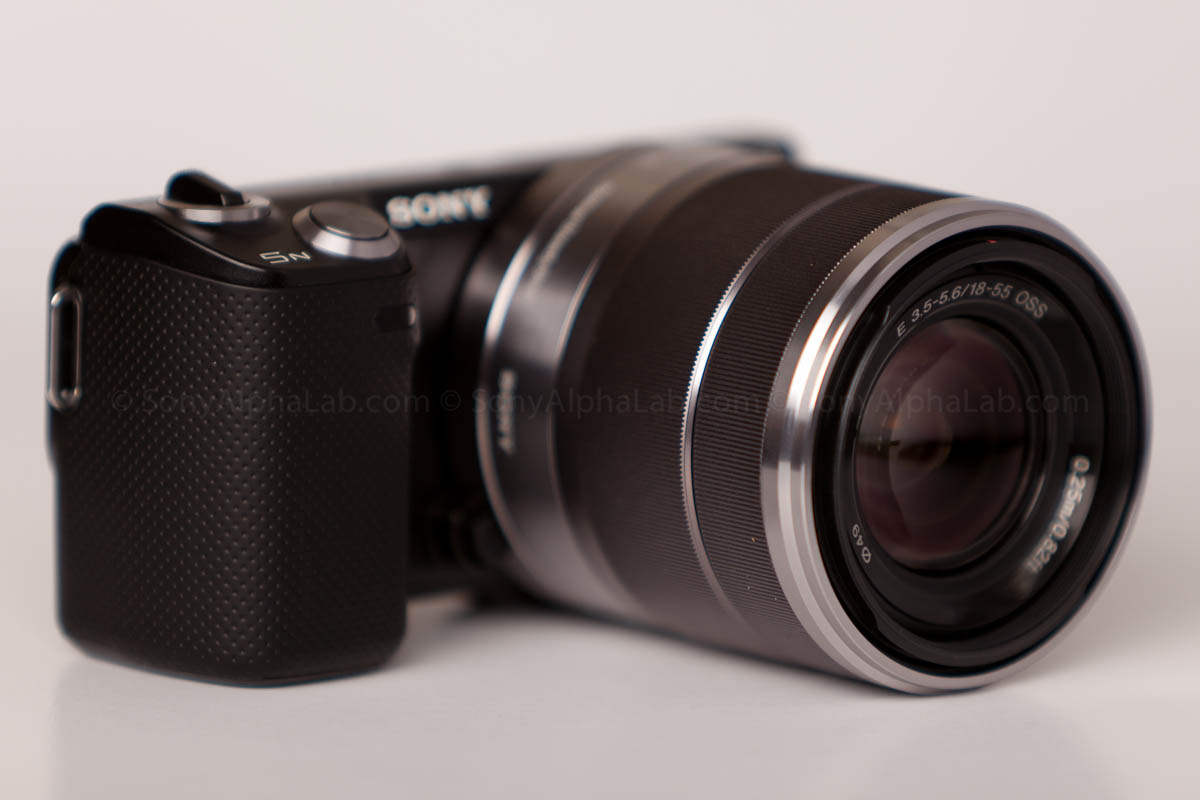 Sony Nex-5n w/ 18-55mm lens - 3/4 View