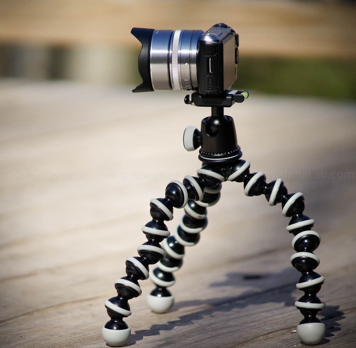 Joby Gorrillapod SLR-Zoom w/ Ballhead and Nex Camera and Lens