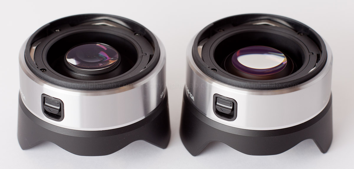 Both 16mm Conversion Lenses - Fisheye - Left , Wide Angle - Right