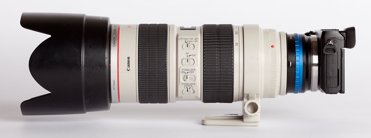 Nex-7 w/ Canon EF 70-200mm f/2.8 L IS Lens