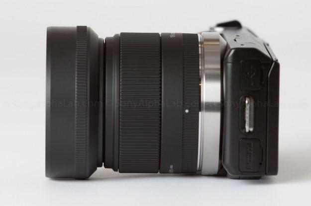 Nex-5n and the Sigma E-Mount 19mm f/2.8 EX DN Lens w/ lens hood