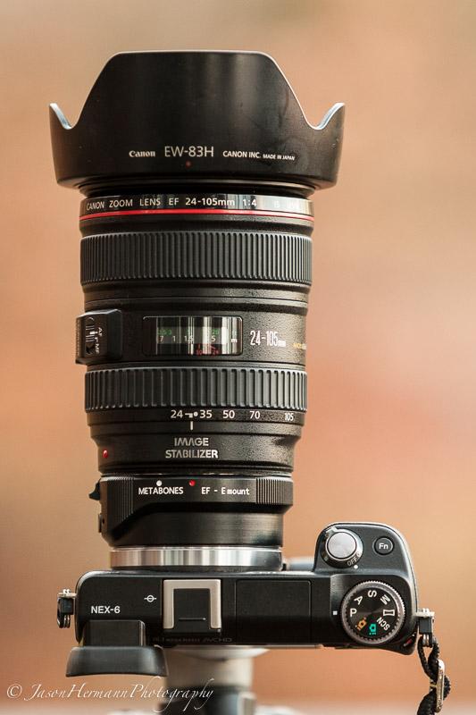 Nex-6, Metabones EF III, Canon 24-105mm f/4 L IS Lens