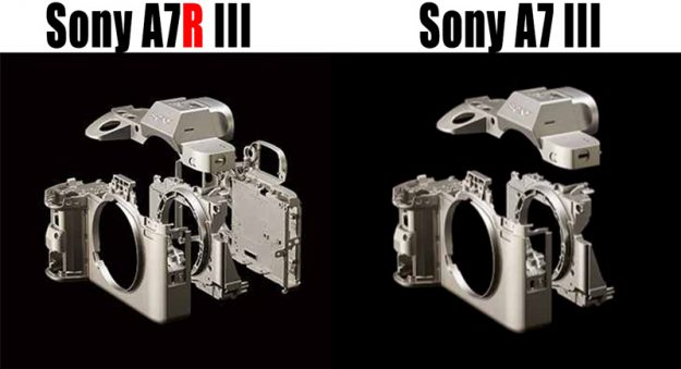 Sony a7R III vs a7 III - Chassis