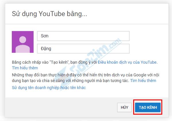 Cách tạo kênh Youtube - 2