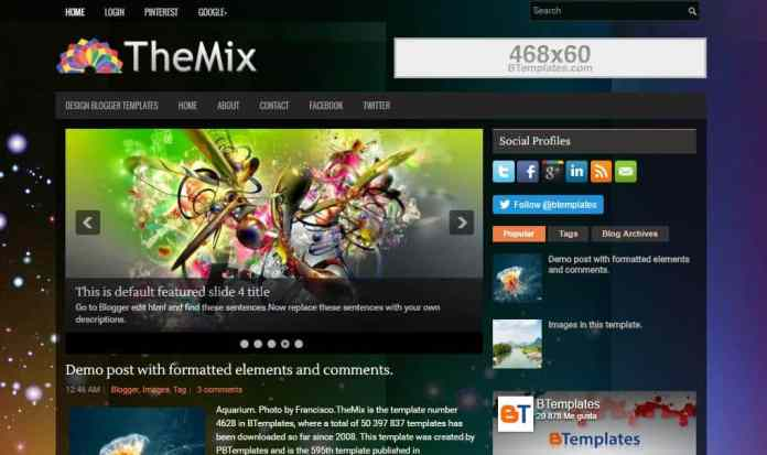 top 25 template blogspot mien phi tot nhat - Template 13