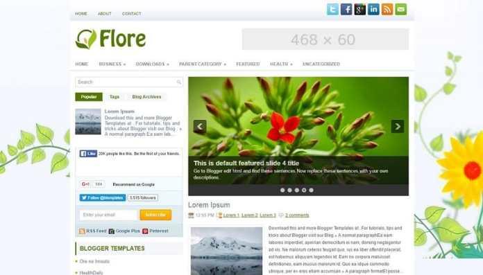 top 25 template blogspot mien phi tot nhat - Template 15