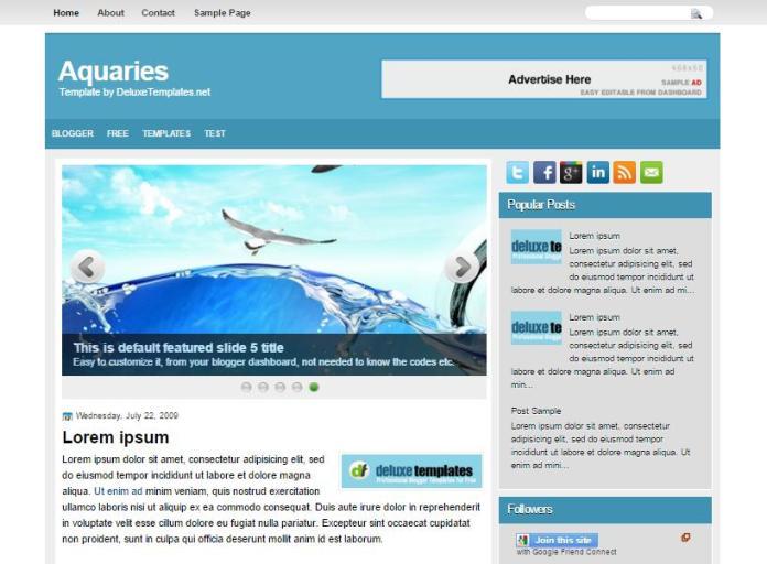 top 25 template blogspot mien phi tot nhat - Template 5
