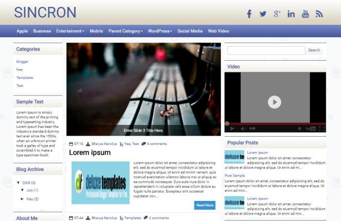 top 25 template blogspot mien phi tot nhat - Template 1
