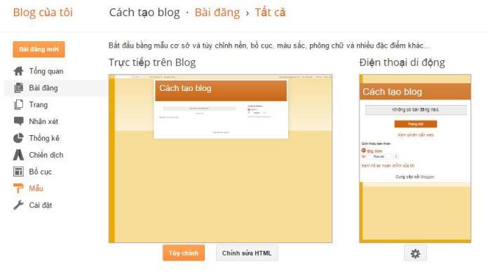 cach thay doi giao dien cho blogspot - 2