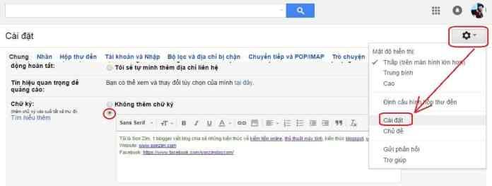 Huong dan cach tao chu ky Gmail - Anh 2