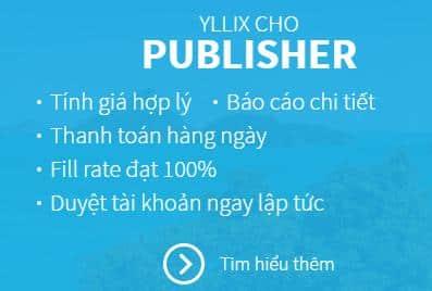 Kiếm tiền từ website hoặc blog với quảng cáo ylliX - Ảnh 1