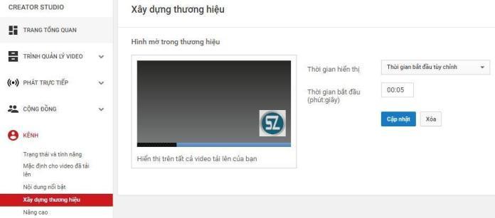 Các bước thiết lập kênh Youtube - 10