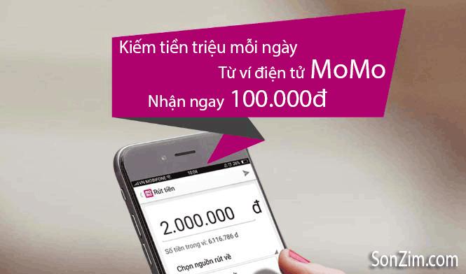 Kiếm tiền từ ứng dụng ví điện tử MoMo