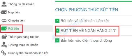 Rút tiền từ Bảo Kim về thẻ Ngân hàng - 1