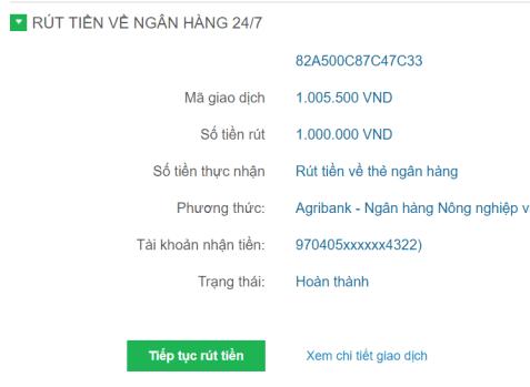 Rút tiền từ Bảo Kim về thẻ Ngân hàng - 4